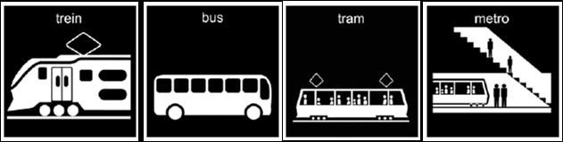 bus metro tram trein